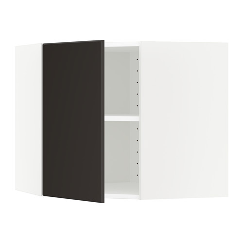 METOD - corner wall cabinet with shelves, white/Kungsbacka anthracite | IKEA Hong Kong and Macau - PE633972_S4