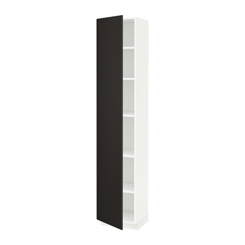 METOD - high cabinet with shelves, white/Kungsbacka anthracite | IKEA 香港及澳門 - PE633993_S4