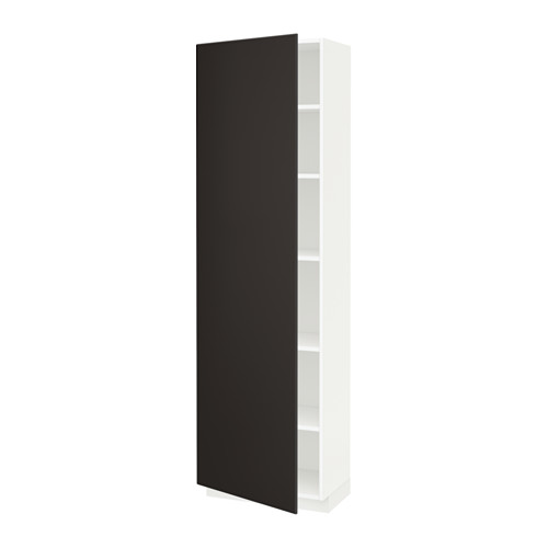 METOD - high cabinet with shelves, white/Kungsbacka anthracite | IKEA Hong Kong and Macau - PE634402_S4