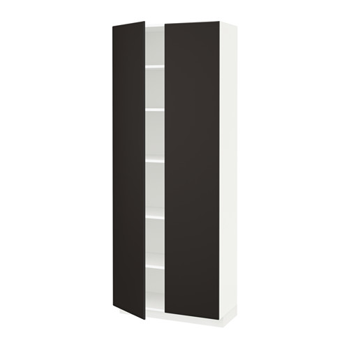 METOD - high cabinet with shelves, white/Kungsbacka anthracite | IKEA Hong Kong and Macau - PE634379_S4