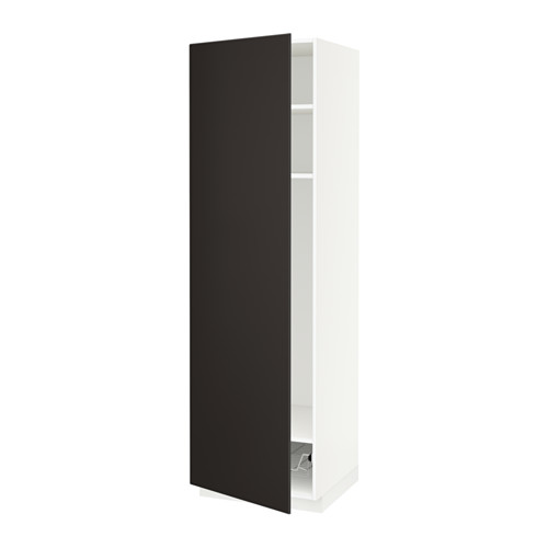 METOD - high cabinet w shelves/wire basket, white/Kungsbacka anthracite | IKEA Hong Kong and Macau - PE634381_S4