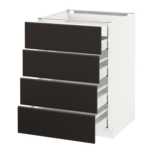 METOD/MAXIMERA - base cb 4 frnts/2 low/3 md drwrs, white/Kungsbacka anthracite | IKEA Hong Kong and Macau - PE634037_S4