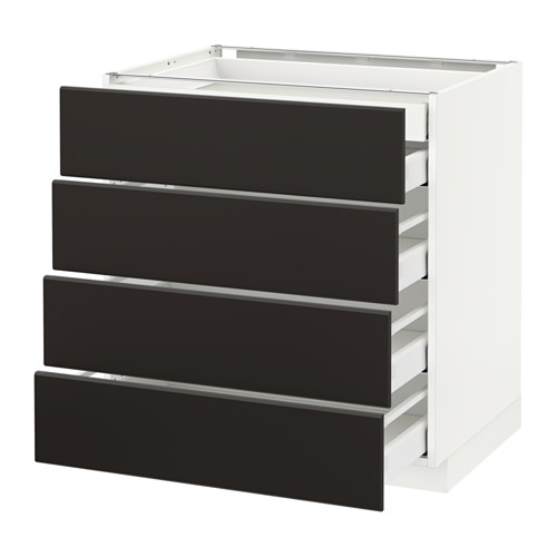 METOD - base cb 4 frnts/2 low/3 md drwrs, white Maximera/Kungsbacka anthracite | IKEA Hong Kong and Macau - PE634011_S4
