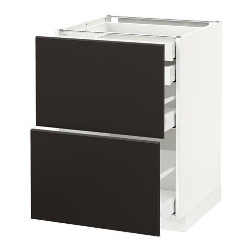 METOD/MAXIMERA - base cb 2 frnts/2 low/1 md/1 hi drw, white/Kungsbacka anthracite | IKEA Hong Kong and Macau - PE634013_S4
