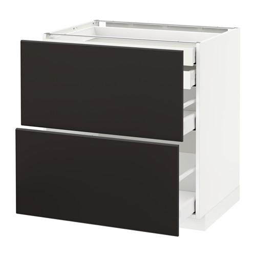 METOD/MAXIMERA - base cb 2 frnts/2 low/1 md/1 hi drw, white/Kungsbacka anthracite | IKEA Hong Kong and Macau - PE634052_S4