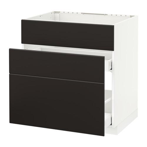 METOD/MAXIMERA 爐具地櫃連3面板/2抽屜