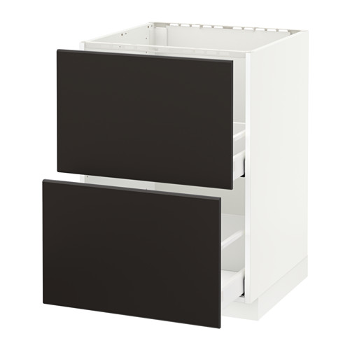 METOD/MAXIMERA - base cab f sink+2 fronts/2 drawers, white/Kungsbacka anthracite | IKEA Hong Kong and Macau - PE634040_S4