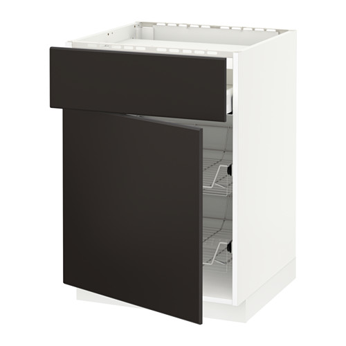 METOD/MAXIMERA - base cab f hob/drawer/2 wire bskts, white/Kungsbacka anthracite | IKEA Hong Kong and Macau - PE634018_S4