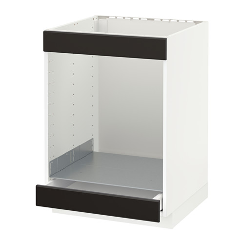 METOD/MAXIMERA - base cab for hob+oven w drawer, white/Kungsbacka anthracite | IKEA Hong Kong and Macau - PE634019_S4
