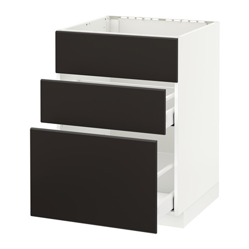 METOD/MAXIMERA base cab f sink+3 fronts/2 drawers
