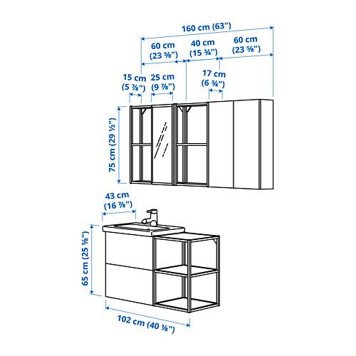 TVÄLLEN/ENHET - bathroom furniture, set of 18, concrete effect/white Glypen tap | IKEA Hong Kong and Macau - PE825511_S4