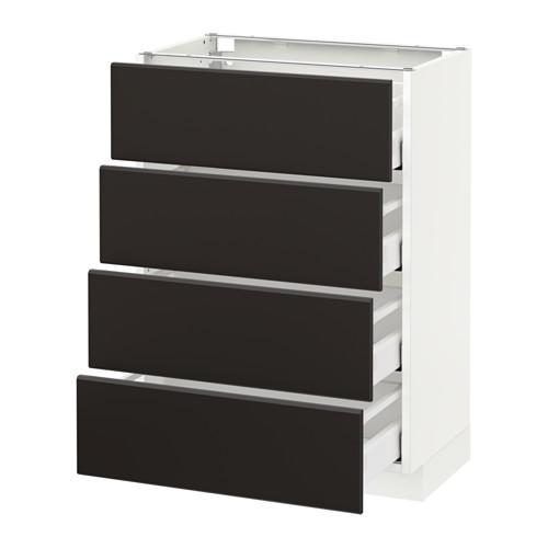 METOD - base cab 4 frnts/4 drawers, white Maximera/Kungsbacka anthracite | IKEA Hong Kong and Macau - PE634073_S4