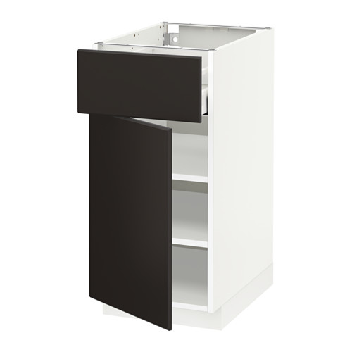 METOD/MAXIMERA - base cabinet with drawer/door, white/Kungsbacka anthracite | IKEA Hong Kong and Macau - PE634076_S4
