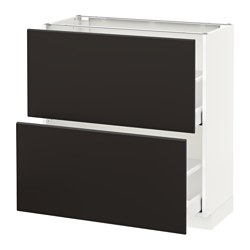 MAXIMERA/METOD - base cabinet with 2 drawers, white/Kungsbacka anthracite | IKEA Hong Kong and Macau - PE634139_S3