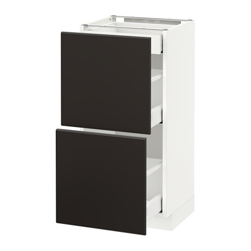 METOD/MAXIMERA - base cab with 2 fronts/3 drawers, white/Kungsbacka anthracite | IKEA Hong Kong and Macau - PE634118_S4