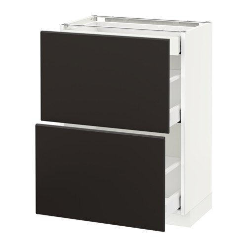 METOD/MAXIMERA - base cab with 2 fronts/3 drawers, white/Kungsbacka anthracite | IKEA Hong Kong and Macau - PE634119_S4