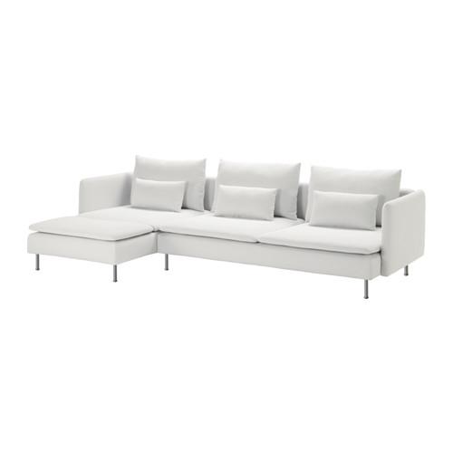 SÖDERHAMN - 4-seat sofa with chaise longue, Finnsta white   IKEA Hong Kong and Macau - PE583253_S4