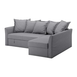HOLMSUND - corner sofa-bed with storage, nordvalla medium grey | IKEA Hong Kong and Macau - PE577764_S3