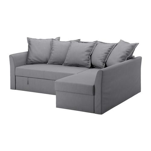 HOLMSUND - corner sofa-bed with storage, nordvalla medium grey   IKEA Hong Kong and Macau - PE577764_S4