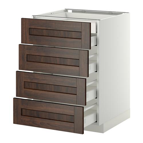 METOD - 廚櫃組合, 白色 Maximera/Edserum 褐色 | IKEA 香港及澳門 - PE358152_S4