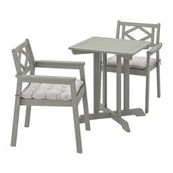 BONDHOLMEN - 戶外檯凳組合, 染灰色/Kuddarna 灰色 | IKEA 香港及澳門 - PE769843_S3
