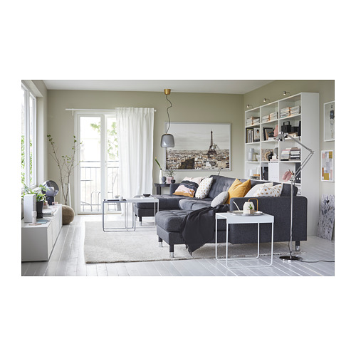LANDSKRONA - 5-seat sofa, with chaise longues/Gunnared dark grey/metal | IKEA Hong Kong and Macau - PH153241_S4