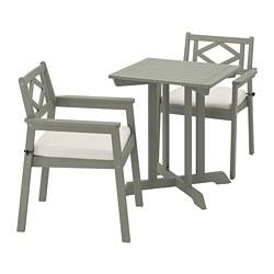 BONDHOLMEN - 戶外檯凳組合, 染灰色/Frösön/Duvholmen 米黃色   IKEA 香港及澳門 - PE769851_S3