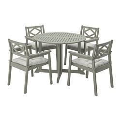 BONDHOLMEN - 戶外檯連扶手椅組合, grey stained/Kuddarna grey   IKEA 香港及澳門 - PE769870_S3