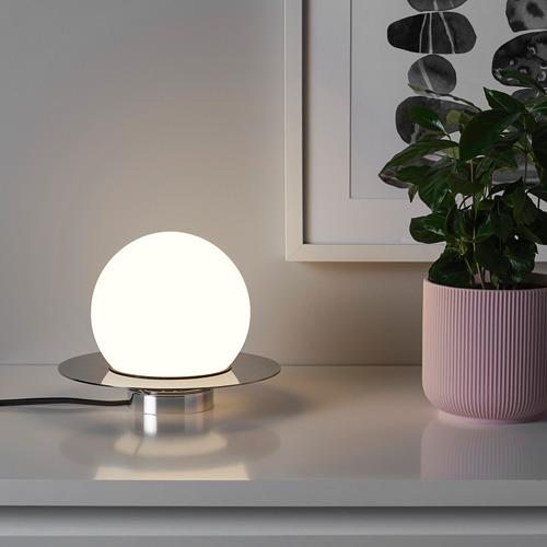 SIMRISHAMN - table/wall lamp, chrome-plated/opal white glass | IKEA Hong Kong and Macau - PE769873_S4