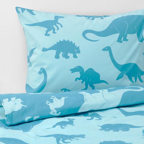 JÄTTELIK - quilt cover and pillowcase, dinosaur/blue | IKEA Hong Kong and Macau - PE769892_S4