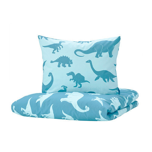 JÄTTELIK - quilt cover and pillowcase, dinosaur/blue | IKEA Hong Kong and Macau - PE769889_S4