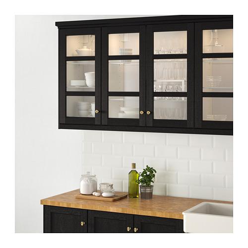LERHYTTAN - glass door, black stained | IKEA Hong Kong and Macau - PE682302_S4