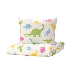 JÄTTELIK - quilt cover and pillowcase, dinosaur/multicolour | IKEA Hong Kong and Macau - PE769895_S3
