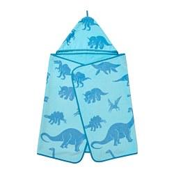 JÄTTELIK - 嬰兒浴袍, 恐龍/藍色   IKEA 香港及澳門 - PE769909_S3