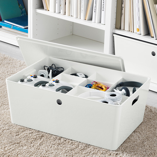 KUGGIS - 內置8間隔貯物架, 36x53x6 cm, 白色 | IKEA 香港及澳門 - PE552048_S4