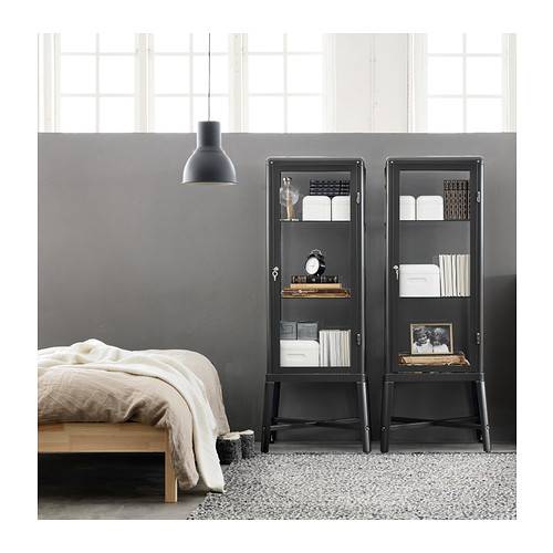 FABRIKÖR - glass-door cabinet, dark grey | IKEA Hong Kong and Macau - PE360647_S4