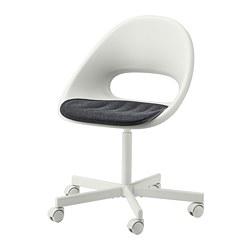 LOBERGET/BLYSKÄR - 旋轉椅連椅墊, 白色/深灰色 | IKEA 香港及澳門 - PE770240_S3