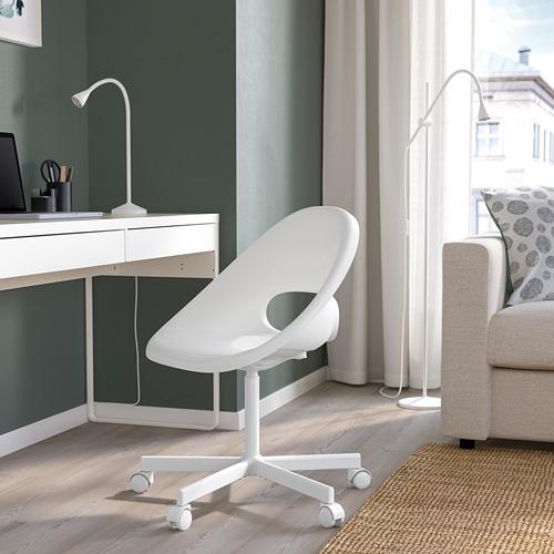LOBERGET/BLYSKÄR - swivel chair, white | IKEA Hong Kong and Macau - PE770243_S4