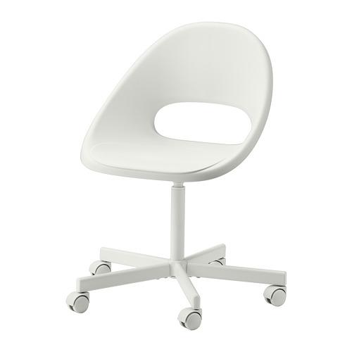 LOBERGET/BLYSKÄR - swivel chair, white | IKEA Hong Kong and Macau - PE770241_S4
