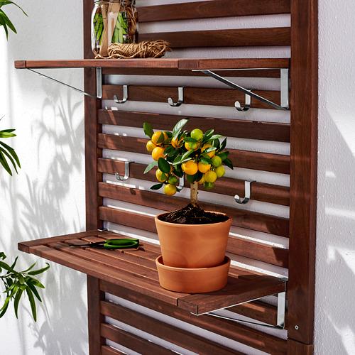 ÄPPLARÖ - 戶外長凳連牆架層板組合, 染褐色 | IKEA 香港及澳門 - PE619429_S4