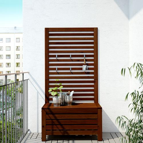 ÄPPLARÖ - 戶外長几及牆架, 染褐色   IKEA 香港及澳門 - PE619328_S4