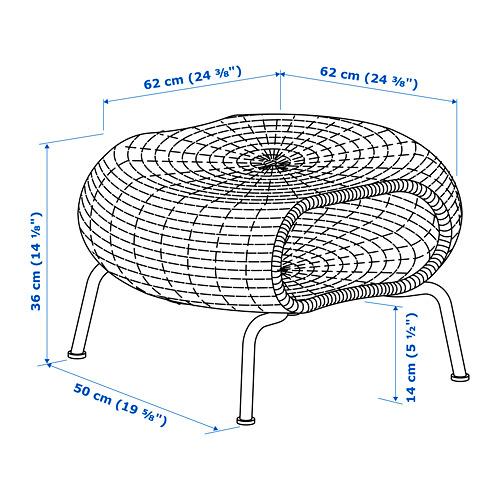 GAMLEHULT - footstool with storage, rattan/anthracite | IKEA Hong Kong and Macau - PE725938_S4