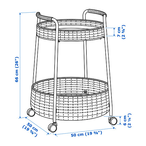 LUBBAN - trolley table with storage, rattan/anthracite   IKEA Hong Kong and Macau - PE725940_S4
