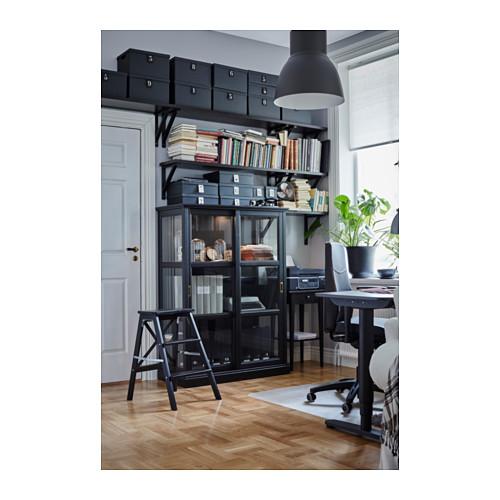 MALSJÖ - glass-door cabinet, black stained   IKEA Hong Kong and Macau - PH139050_S4