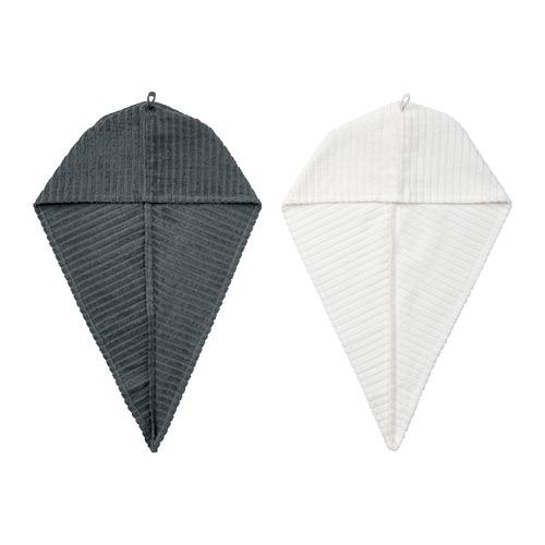 TRÄTTEN - 乾髮巾, 深灰色/白色 | IKEA 香港及澳門 - PE770232_S4
