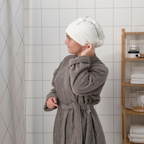 TRÄTTEN - 乾髮巾, 深灰色/白色 | IKEA 香港及澳門 - PE770233_S4