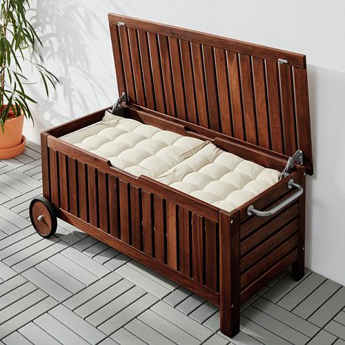 ÄPPLARÖ - 戶外貯物長几, 染褐色   IKEA 香港及澳門 - PE617858_S4