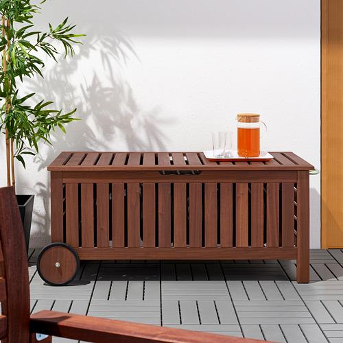 ÄPPLARÖ - 戶外貯物長几, 染褐色   IKEA 香港及澳門 - PE618927_S4