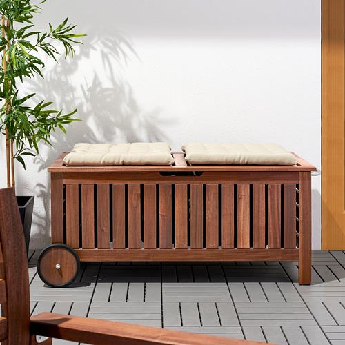 ÄPPLARÖ - 戶外貯物長几, 染褐色   IKEA 香港及澳門 - PE618930_S4