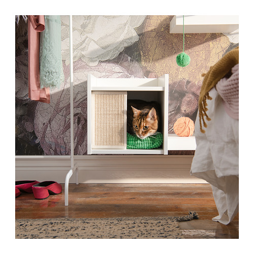 LURVIG - 貓屋連支腳, 白色   IKEA 香港及澳門 - PE726009_S4